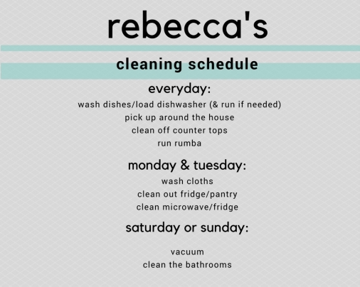 rebecca's cleaning schedule-2