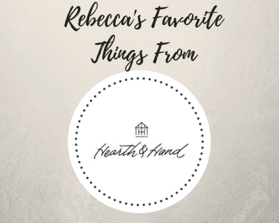 Rebecca'sFavorite Things From